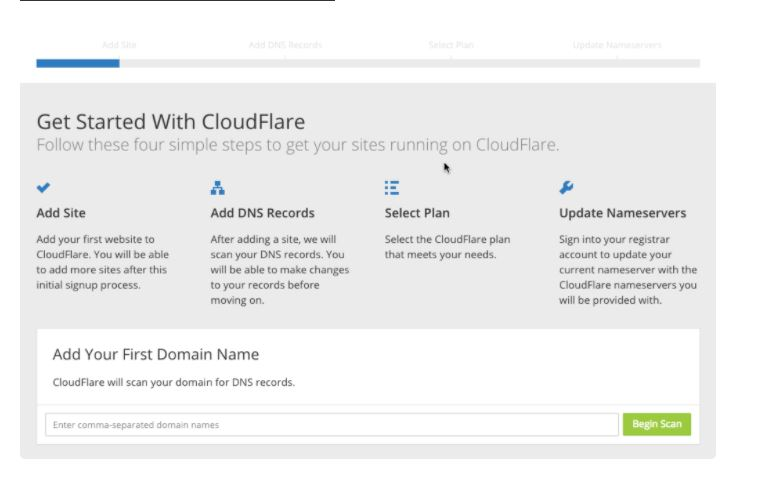 Get started with cloudflare