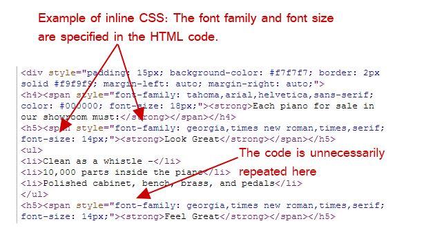 Inline CSS در HTML برای وبسایت